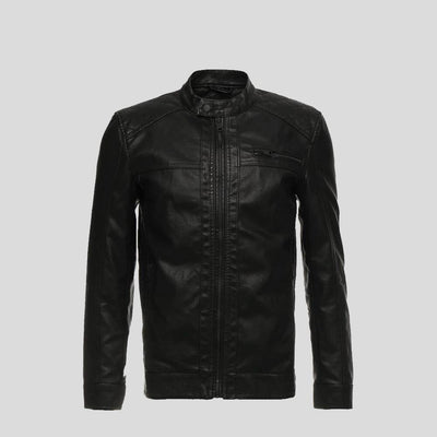 motorcycle leather jacket black riley 6