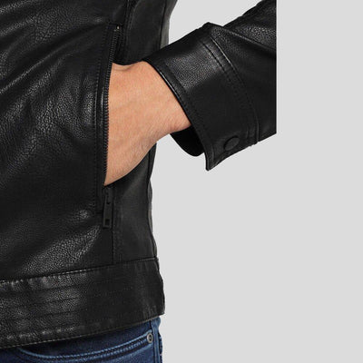 motorcycle leather jacket black riley 4