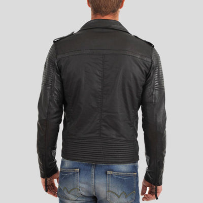 motorcycle leather jacket blake black 3