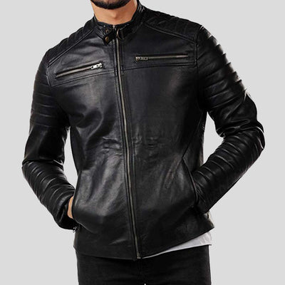 motorcycle leather jacket jaden black 1