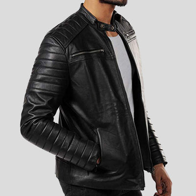 motorcycle leather jacket jaden black 4