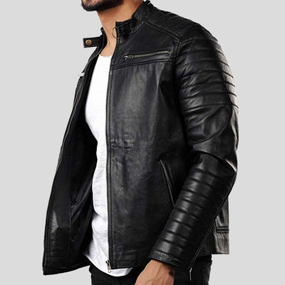motorcycle leather jacket jaden black 2