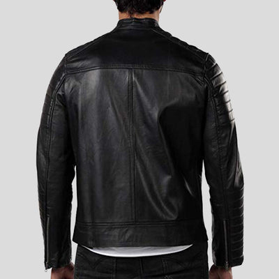 motorcycle leather jacket jaden black 5