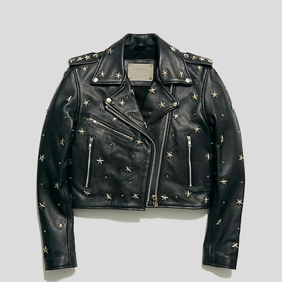 Autumn Black Studded Leather Jacket 5
