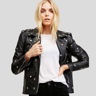 Landry Black Studded Leather Jacket 2