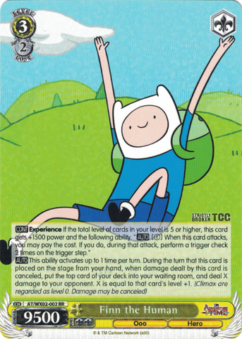 AT/WX02-002 Finn the Human - Adventure Time English Weiss Schwarz Trading Card Game