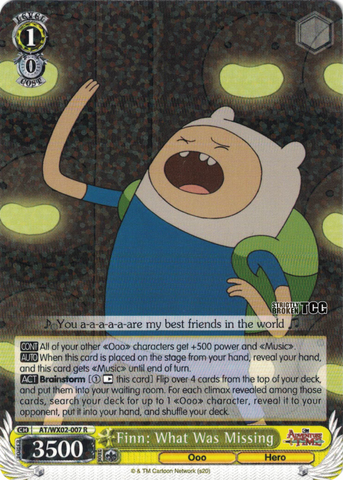 AT/WX02-007 Finn: What Was Missing - Adventure Time English Weiss Schwarz Trading Card Game