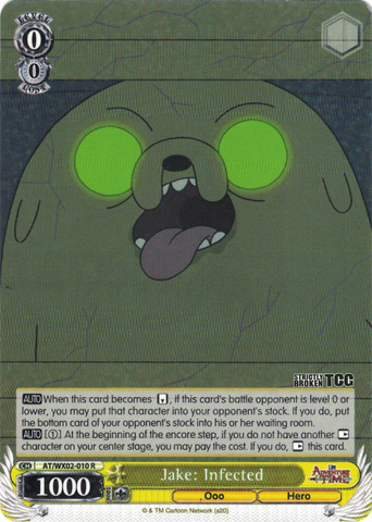 AT/WX02-010 Jake: Infected - Adventure Time English Weiss Schwarz Trading Card Game