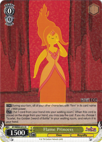 AT/WX02-012 Flame Princess - Adventure Time English Weiss Schwarz Trading Card Game