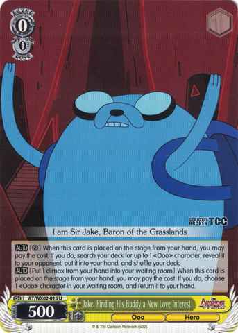 AT/WX02-015 Jake: Finding His Buddy a New Love Interest - Adventure Time English Weiss Schwarz Trading Card Game