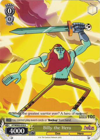 AT/WX02-019 Billy the Hero - Adventure Time English Weiss Schwarz Trading Card Game