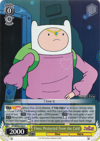 AT/WX02-022 Finn: Protected from the Cold - Adventure Time English Weiss Schwarz Trading Card Game