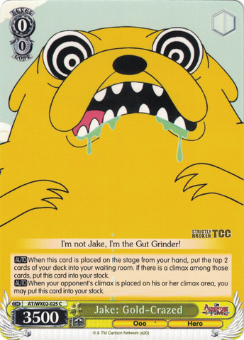 AT/WX02-025 Jake: Gold-Crazed - Adventure Time English Weiss Schwarz Trading Card Game