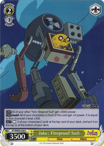 AT/WX02-026 Jake: Fireproof Suit - Adventure Time English Weiss Schwarz Trading Card Game