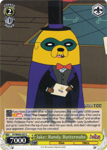 AT/WX02-027 Jake: Randy Butternubs - Adventure Time English Weiss Schwarz Trading Card Game
