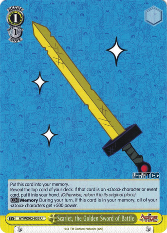 AT/WX02-033 Scarlet, the Golden Sword of Battle - Adventure Time English Weiss Schwarz Trading Card Game