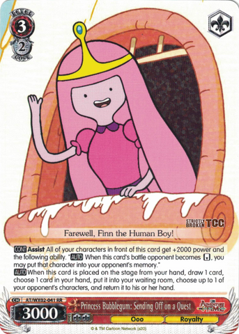 AT/WX02-041 Princess Bubblegum: Sending Off on a Quest - Adventure Time English Weiss Schwarz Trading Card Game