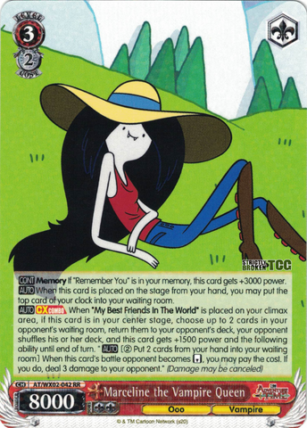 AT/WX02-042 Marceline the Vampire Queen - Adventure Time English Weiss Schwarz Trading Card Game