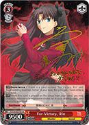 FS/S34-E051SP For Victory, Rin (Foil) - Fate/Stay Night Unlimited Blade Works Vol.1 English Weiss Schwarz Trading Card Game