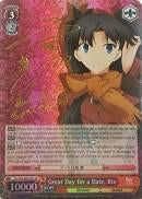 FS/S34-E052SP Great Day for a Date, Rin (Foil) - Fate/Stay Night Unlimited Blade Works Vol.1 English Weiss Schwarz Trading Card Game