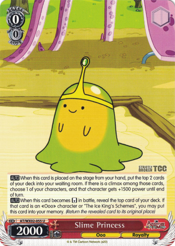 AT/WX02-055 Slime Princess - Adventure Time English Weiss Schwarz Trading Card Game