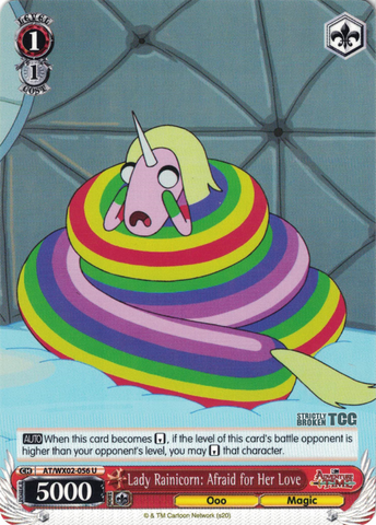 AT/WX02-056 Lady Rainicorn: Afraid for Her Love - Adventure Time English Weiss Schwarz Trading Card Game