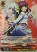AB/W31-E063R United Battlefront, Kanade & Yuri (Foil) - Angel Beats! Re:Edit English Weiss Schwarz Trading Card Game