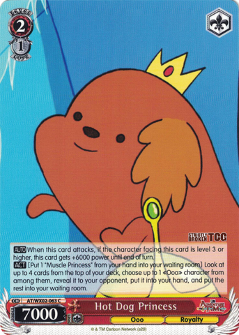 AT/WX02-063 Hot Dog Princess - Adventure Time English Weiss Schwarz Trading Card Game