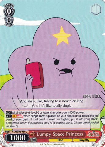 AT/WX02-064 Lumpy Space Princess - Adventure Time English Weiss Schwarz Trading Card Game
