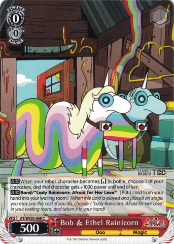 AT/WX02-068 Bob & Ethel Rainicorn - Adventure Time English Weiss Schwarz Trading Card Game
