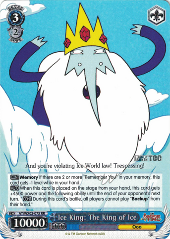 AT/WX02-075 Ice King: The King of Ice - Adventure Time English Weiss Schwarz Trading Card Game