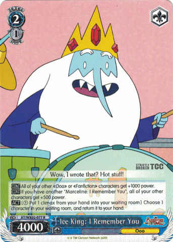 AT/WX02-077 Ice King: I Remember You - Adventure Time English Weiss Schwarz Trading Card Game