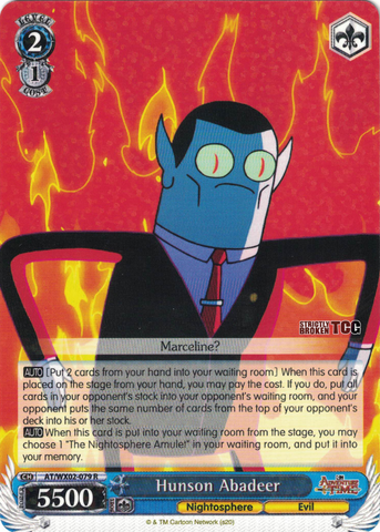 AT/WX02-079 Hunson Abadeer - Adventure Time English Weiss Schwarz Trading Card Game