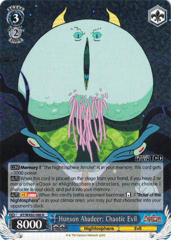 AT/WX02-080 Hunson Abadeer: Chaotic Evil - Adventure Time English Weiss Schwarz Trading Card Game