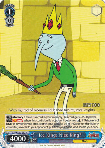 AT/WX02-082 Ice King: Nice King? - Adventure Time English Weiss Schwarz Trading Card Game