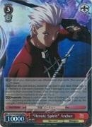 FS/S34-E053R Heroic Spirit Archer (Foil) - Fate/Stay Night Unlimited Blade Works Vol.1 English Weiss Schwarz Trading Card Game
