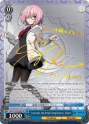 FGO/S75-E076SP Towards the Final Singularity, Mash (Foil) - Fate/Grand Order Absolute Demonic Front: Babylonia Weiss Schwarz Trading Card Game