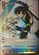"SAO/S51-E071SP ""Time to Get Serious"" Kirito (Foil) - Sword Art Online The Movie – Ordinal Scale – English Weiss Schwarz Trading Card Game"