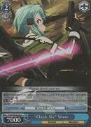 "SAO/SE23-E32 ""Check Six"" Sinon (Foil) - Sword Art Online II Extra Booster English Weiss Schwarz Trading Card Game"
