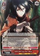 "AOT/S35-E067 ""104th Cadet Corps Class"" Mikasa - Attack On Titan Vol.1 English Weiss Schwarz Trading Card Game"