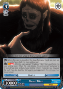 AOT/S50-E086 Beast Titan - Attack On Titan Vol.2 English Weiss Schwarz Trading Card Game