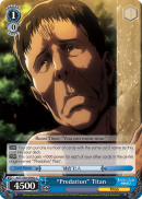 "AOT/S50-E095c ""Predation"" Titan - Attack On Titan Vol.2 English Weiss Schwarz Trading Card Game"