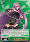 FS/S64-E027S Rider Attacking (Foil) - Fate/Stay Night Heaven's Feel Vol.1 English Weiss Schwarz Trading Card Game