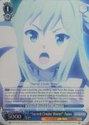 "KS/W49-E077S ""Sacred Create Water"" Aqua (Foil) - KONOSUBA -God's blessing on this wonderful world! Vol. 1 English Weiss Schwarz Trading Card Game"