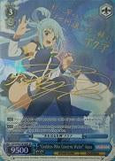 "KS/W49-TE18SP ""Goddess Who Governs Water"" Aqua (Foil) - KONOSUBA -God's blessing on this wonderful world! Vol. 1 English Weiss Schwarz Trading Card Game"