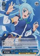 "KS/W49-TE18S ""Goddess Who Governs Water"" Aqua (Foil) - KONOSUBA -God's blessing on this wonderful world! Vol. 1 English Weiss Schwarz Trading Card Game"