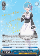 RZ/S68-E054SP Leave Everything to Me, Rem (Foil)