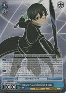 SAO/S20-E077R 《Black Swordsman》 Kirito  (Foil) - Sword Art Online English Weiss Schwarz Trading Card Game