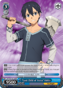 "SAO/S65-TE17R ""Lost Child of Vecta"" Kirito (Foil) - Sword Art Online -Alicization- Vol. 1 English Weiss Schwarz Trading Card Game"