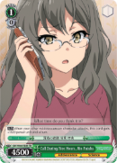 SBY/W64-TE04 Call During Wee Hours, Rio Futaba - Rascal Does Not Dream of Bunny Girl Senpai Trial Deck English Weiss Schwarz Trading Card Game
